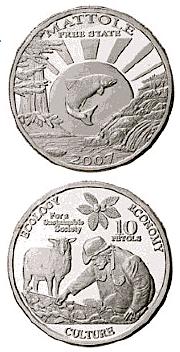 Mattole Free State coin