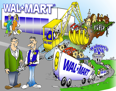 wal mart in a global sense Wal-mart casts a global shadow across the lives of hundreds of millions of  wal- mart does not employ her but is in some sense her boss.